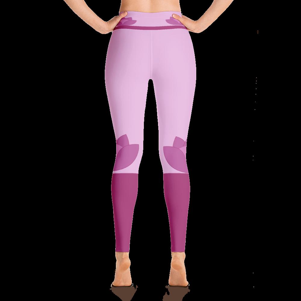 lotus flower yoga leggings | shop clothes free